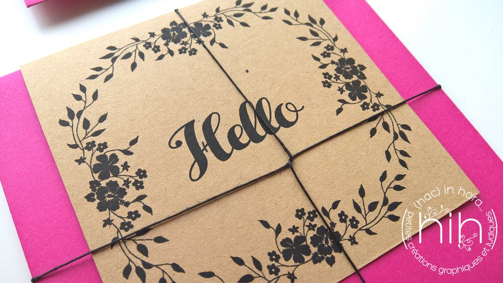 Image of petites cartes ☙folia☙ 'hello' 'merci' ou 'love'