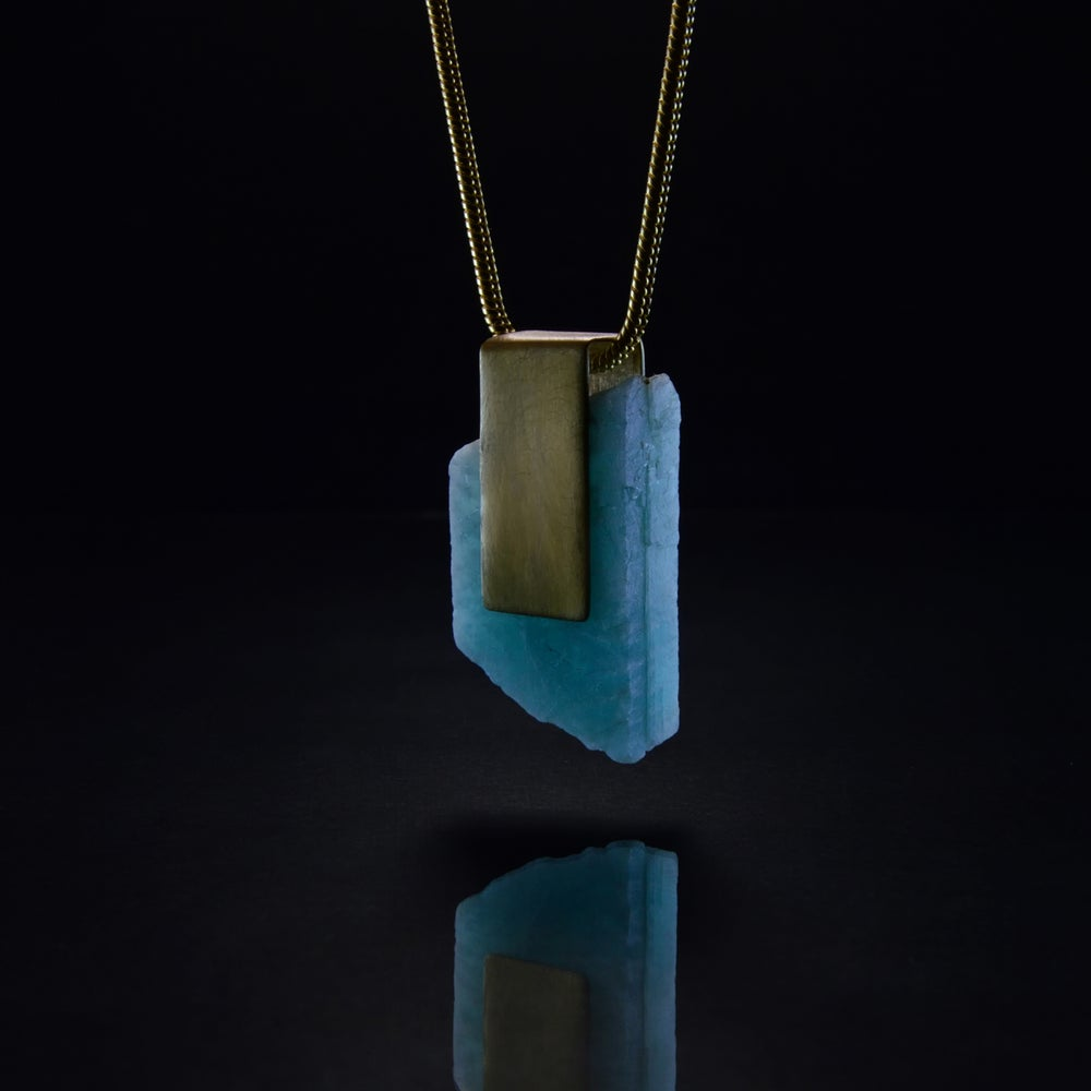 Image of COURAGE OF TRUTH necklace // Amazonite crystal