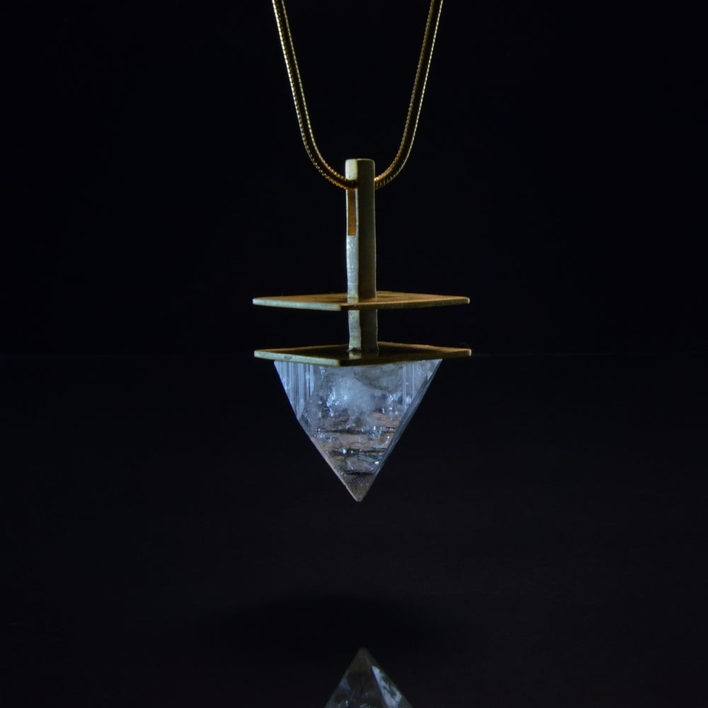 Image of INTUITION necklace // Apophyllite pyramid crystal