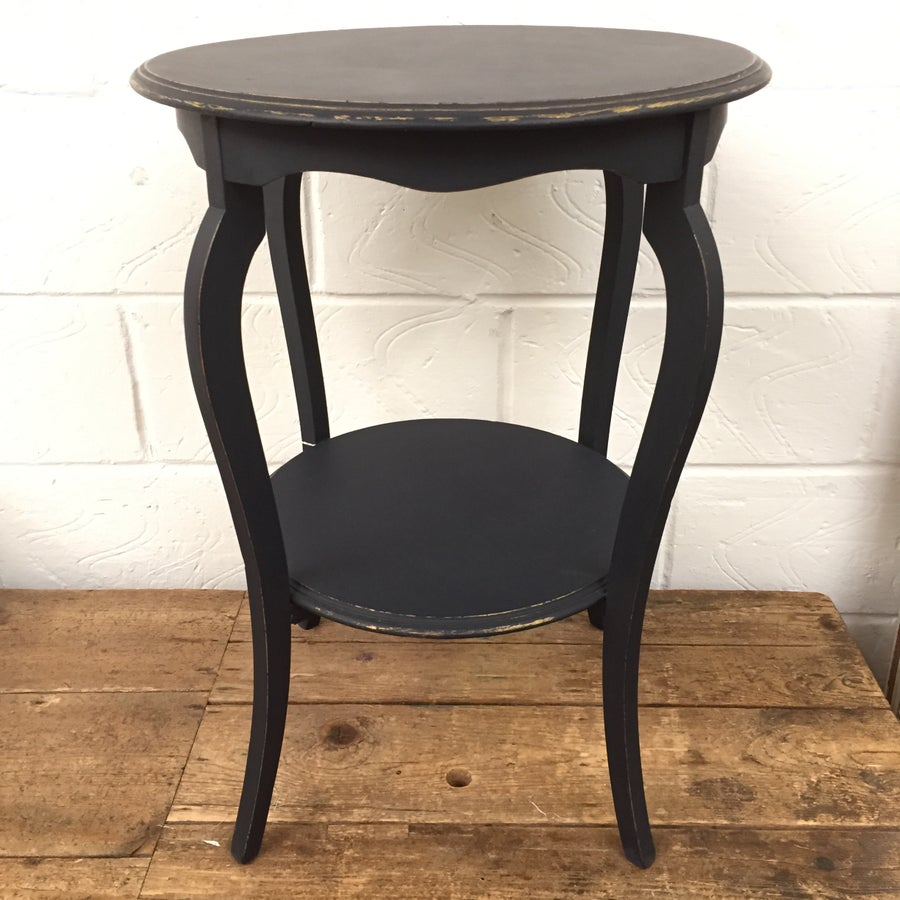 Image of NAVY & GOLD ROUND SIDE TABLE