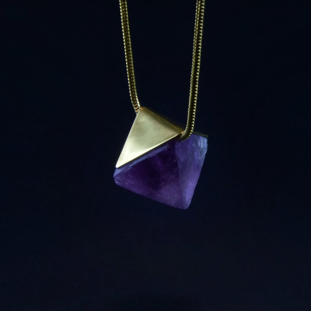 Image of STABILITY necklace // Purple Fluorite crystal