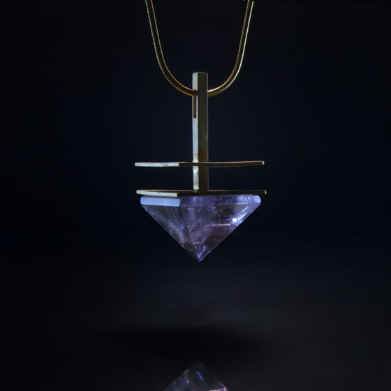 Image of SERENITY WISDOM necklace // Amethyst pyramid crystal