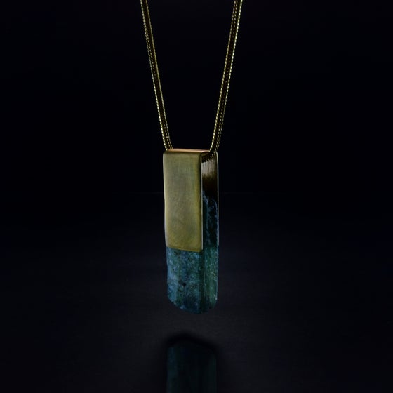 Image of GAIA necklace // Green Kyanite crystal
