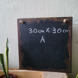 Square Frameless Distressed Chalkboard
