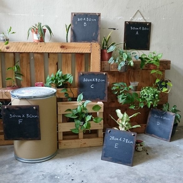 Image of Square Frameless Distressed Chalkboard