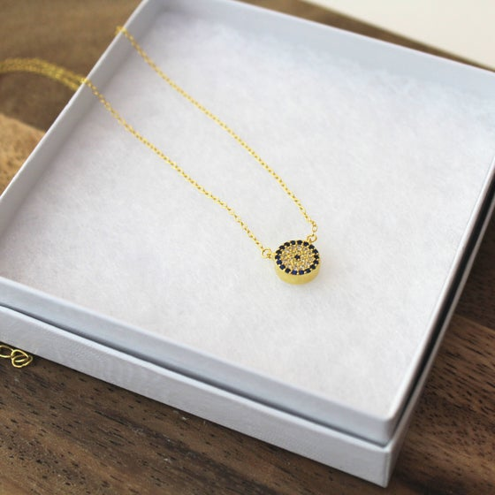 Image of Petite DELIA Evil Eye Necklace