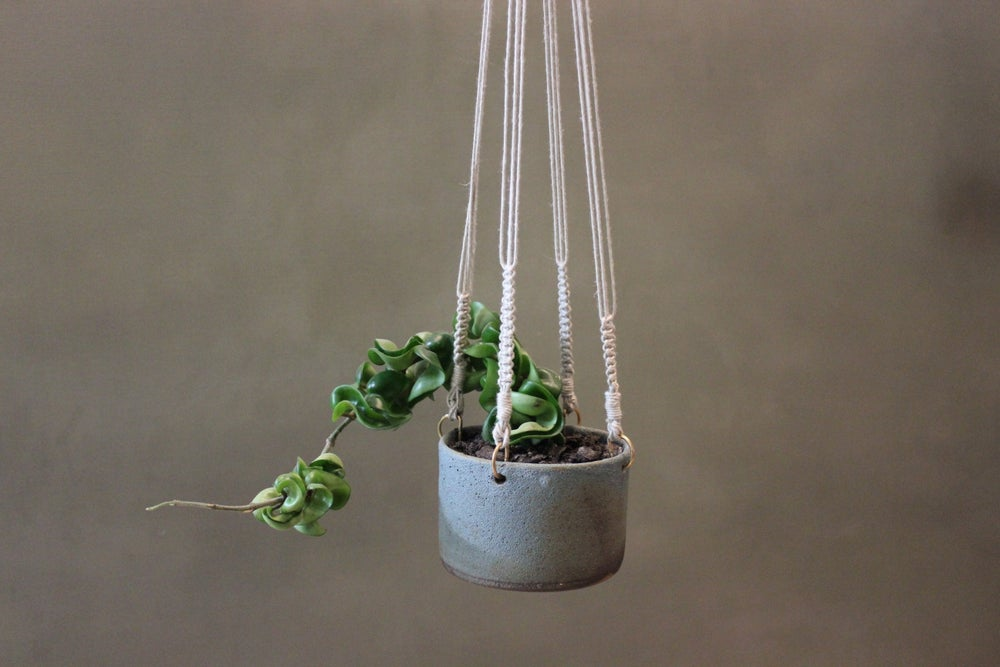 Image of Slate Hanging Planter Small