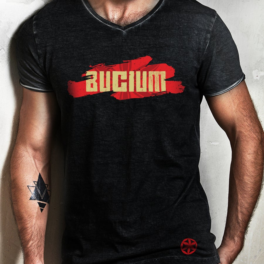 Image of Man - Bucium Logo - Black T-shirt - SOLD OUT