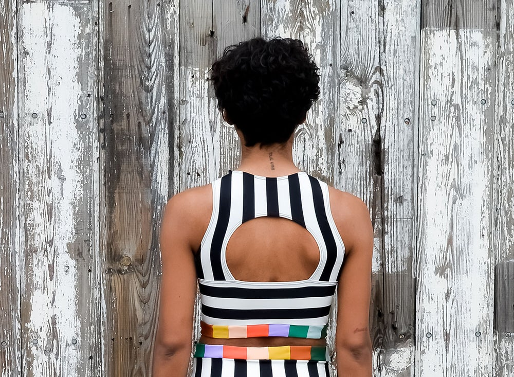 Image of •keyhole• top: summer stripe