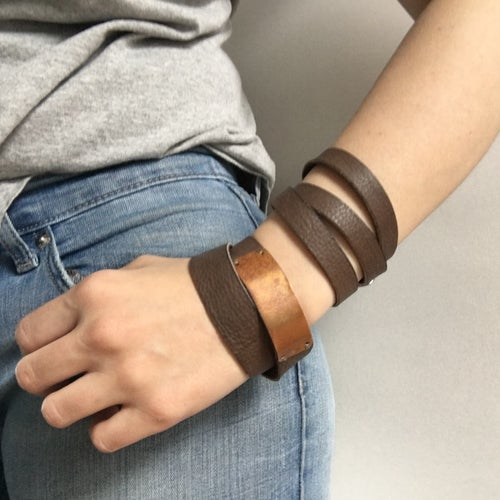 Image of Double-Wrap Bracelet with Rectangle