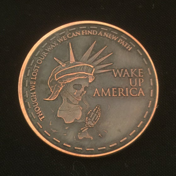 Image of Wake Up America 1oz Copper Coin
