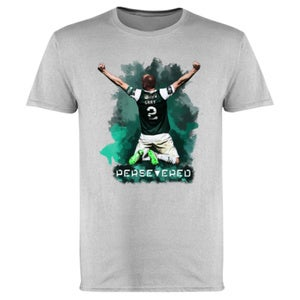 Hibs, Hibernian, David Gray Scottish Cup Winners, Persevered T-Shirts.