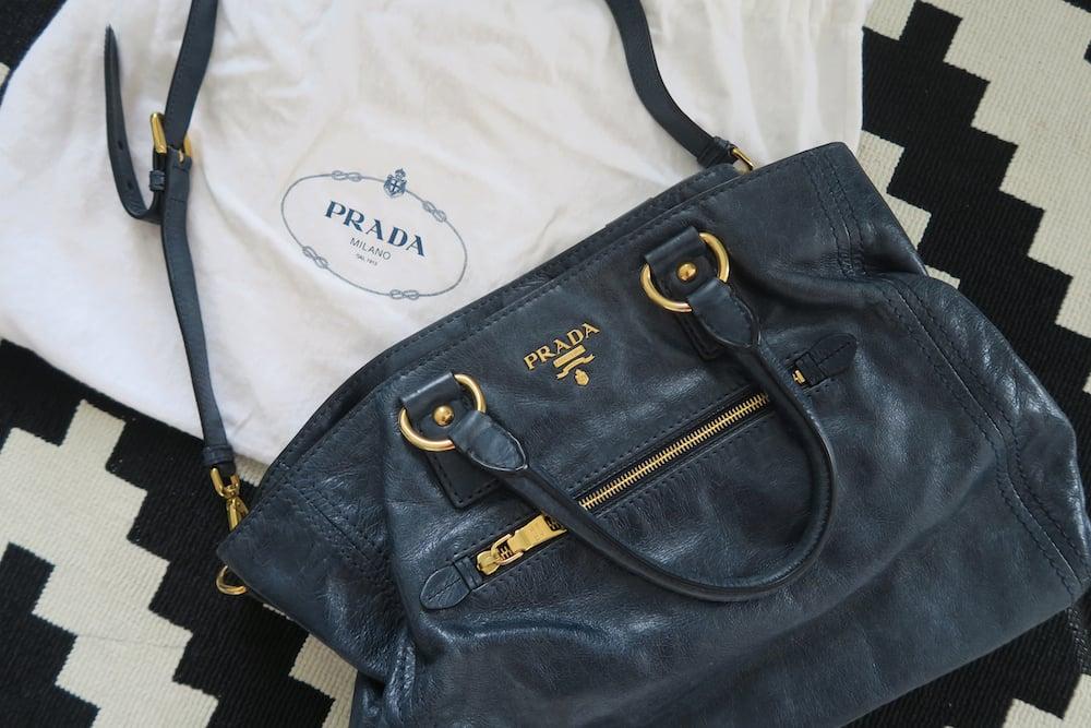 Image of Prada Bag - Dark Denim Blue Colour