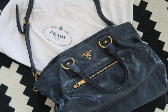 Image of Prada Bag - Dark Denim Blue Colour