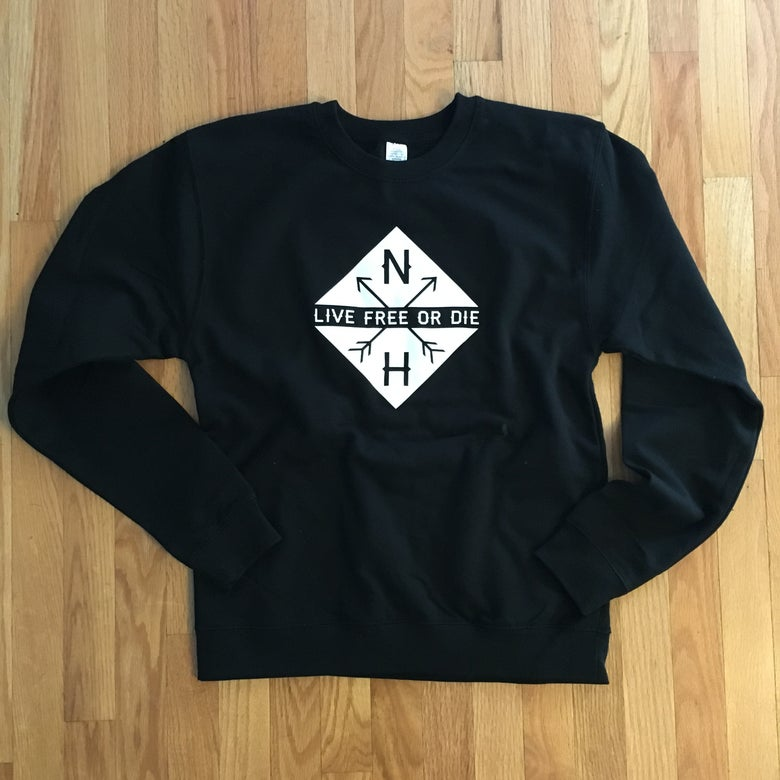 Image of Black Crewneck Diamond