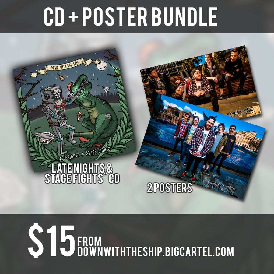 """Image of """"Late Nights & Stage Fights"""" CD + Poster Bundle"""