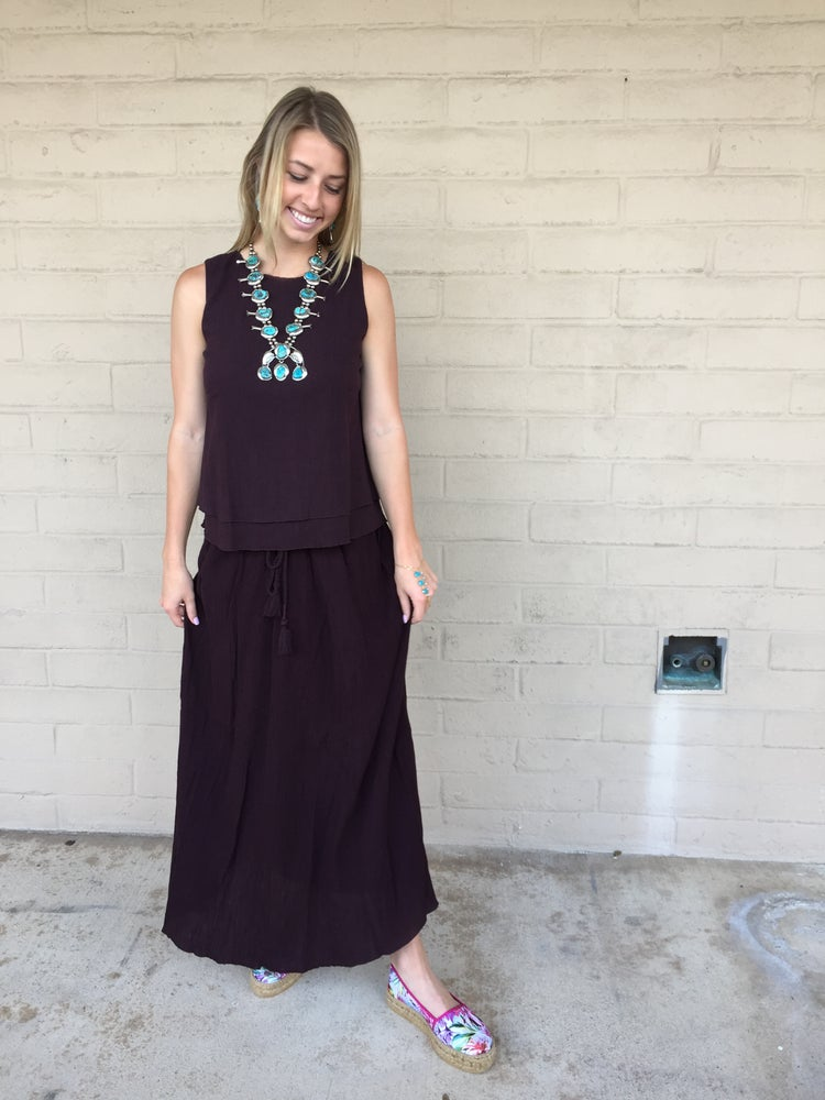 Image of SALE Lilla P Crinkle Cotton Double Layer Shell Top and Skirt
