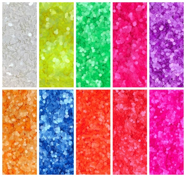 "Image of Neon Round (Dots) Glitter 1mm (.04"")"