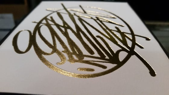 "Image of ""Bit Coin"" Gold Foil Press by OPTIMIST"