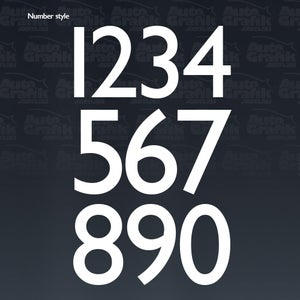 Image of RACING NUMBER 370 - 1 X THIN SAN SERIF STYLE