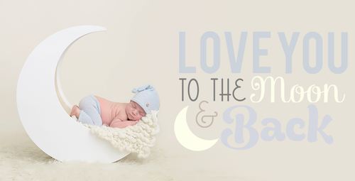 Image of Newborn Wooden Moon Photo Prop