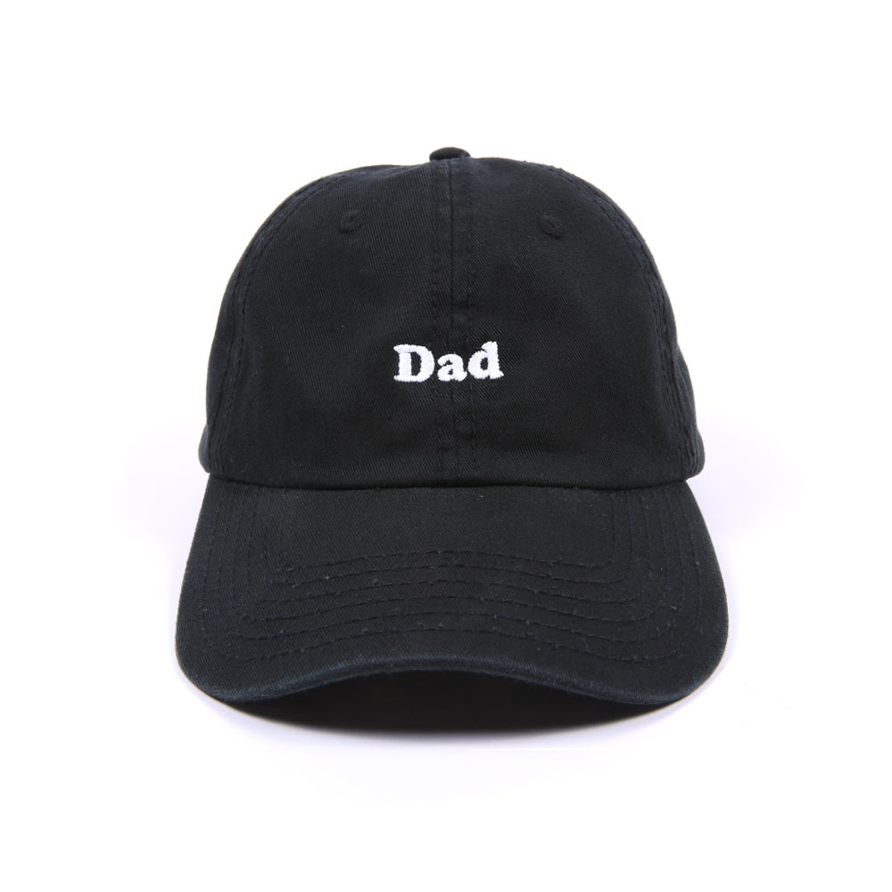 "Image of ""DAD"" Low Profile Sports Cap - Black"