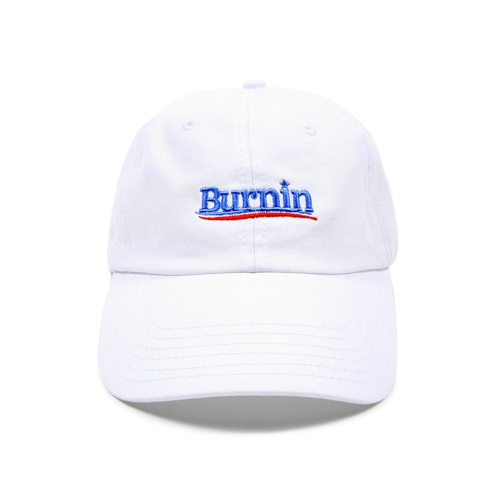 "Image of ""Burnin"" Low Profile Sports Cap - White"