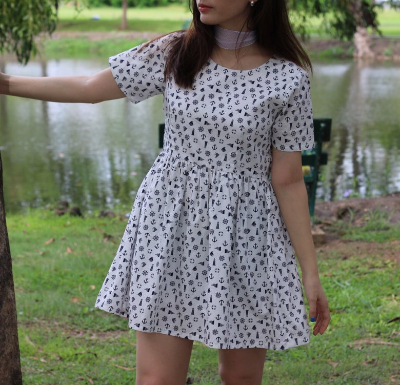 Image of Anchor Baby Doll Dress