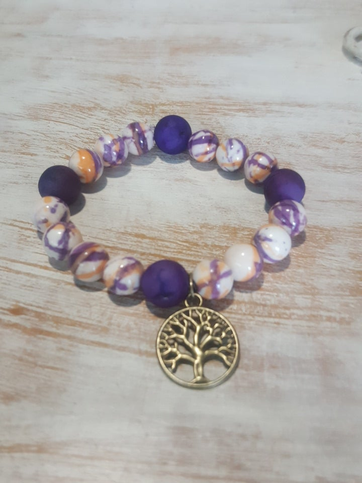 Image of PURPLE GLAZE TREE OF LIFE ARM CANDY