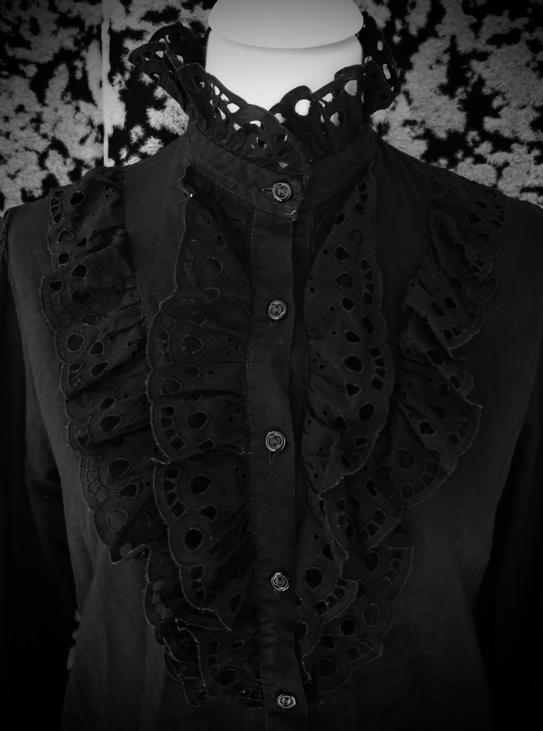 Image of 100% Cotton Vintage Ruffle Shirt