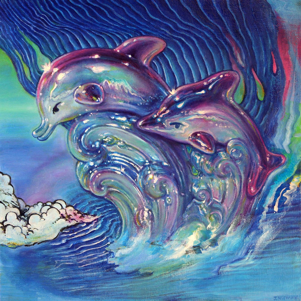 Image of Dolphin Crest // Giclee Artist Print