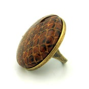 Image of Snake Charmer Vintage Button Cocktail Ring