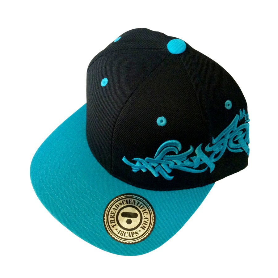 Image of T-Tag 3D Embroidery Hat (Black/Teal)