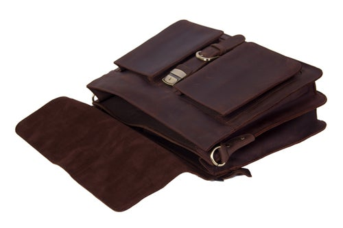 Image of Handmade Vintage Leather Briefcase Men Messenger Bag Laptop Bag 1031