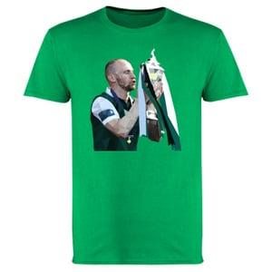Image of Hibs, Hibernian, David Gray Scottish Cup Winners, Polygon Art T-Shirts.
