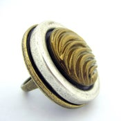 Image of Love Print Vintage Button Cocktail Ring
