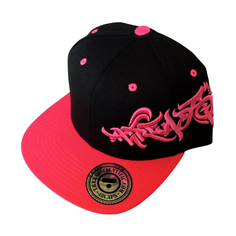 Image of T-Tag 3D Embroidery Hat (Black/Hot Pink)