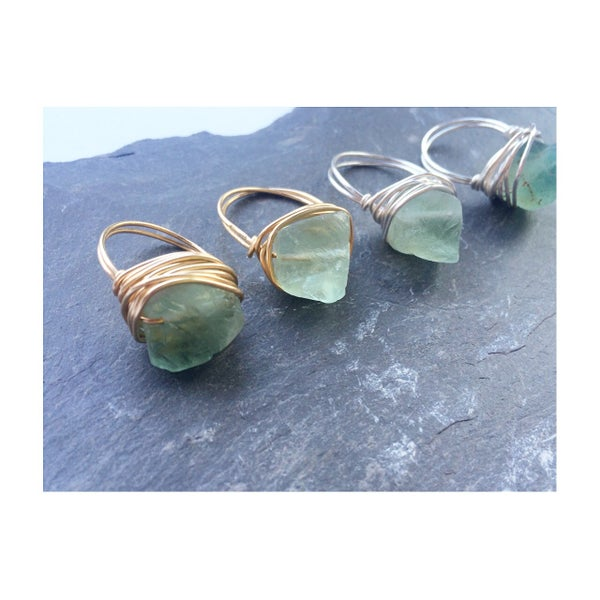 Image of Nymphai Ring - Green Fluorite Crystal for Power SOLD OUT - back soon