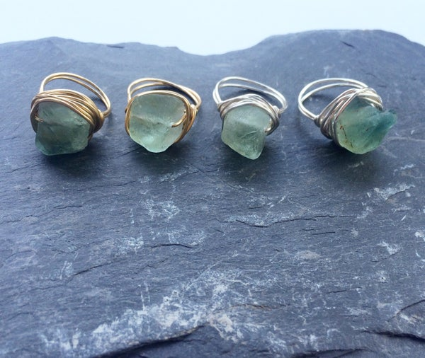 Image of Nymphai Ring - Green Fluorite Crystal for Power