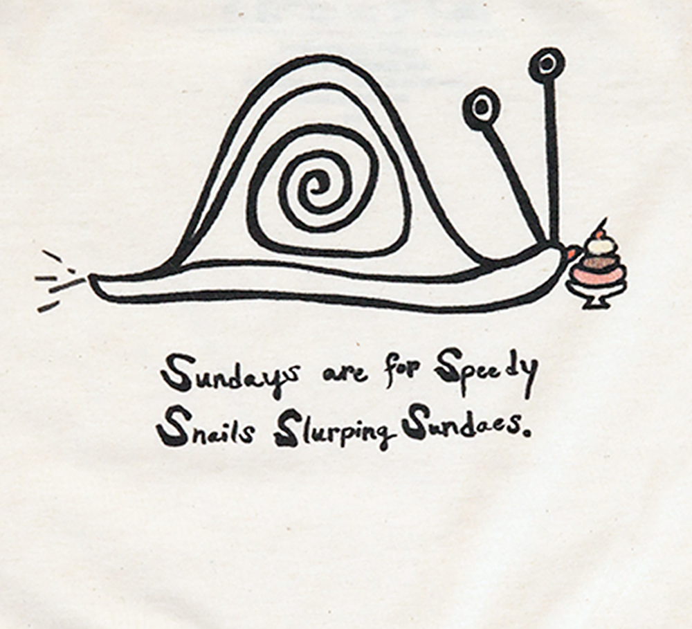 Image of SNAIL SUNDAYS TEE