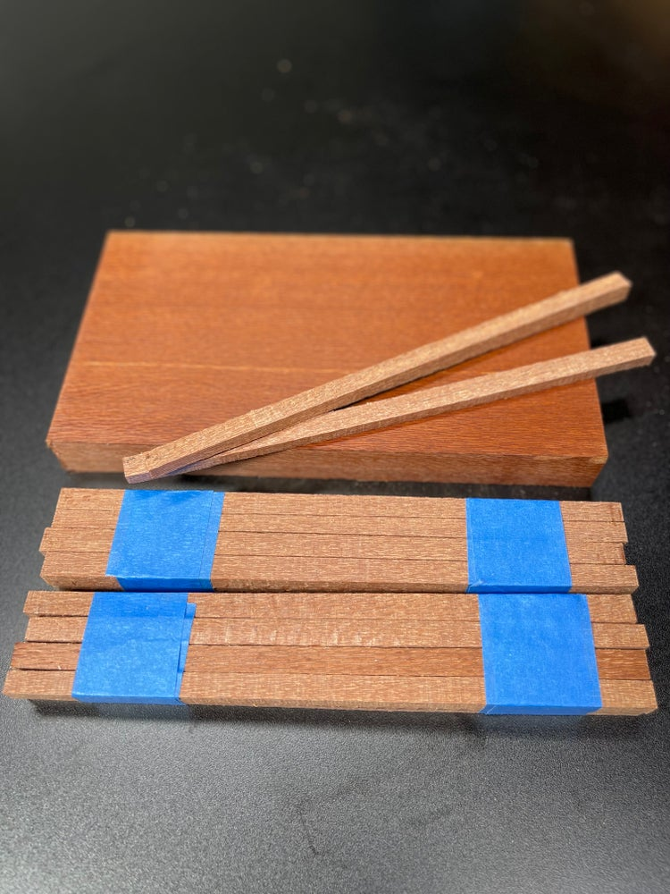 Image of Leopard Wood Chopstick Blanks - Sets if 8