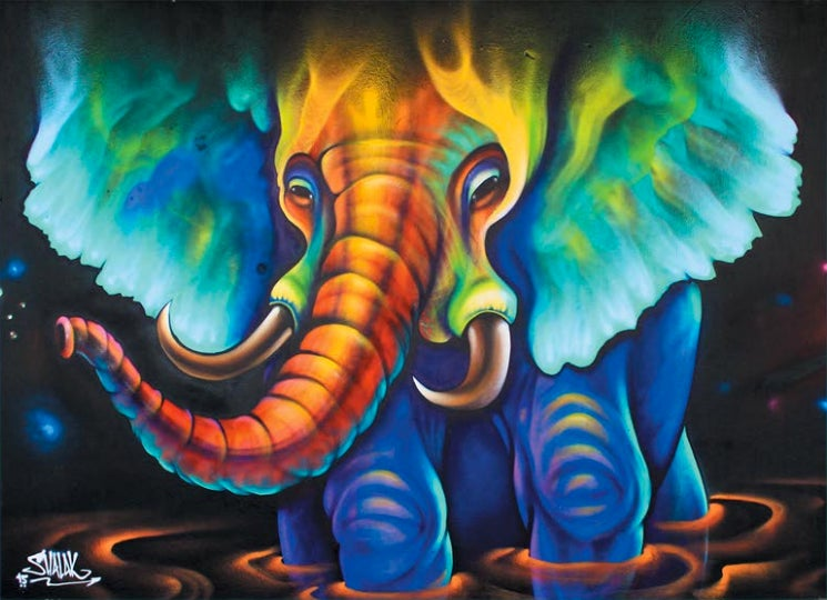 Image of 'Elephant Aurora' by Shalak Attack