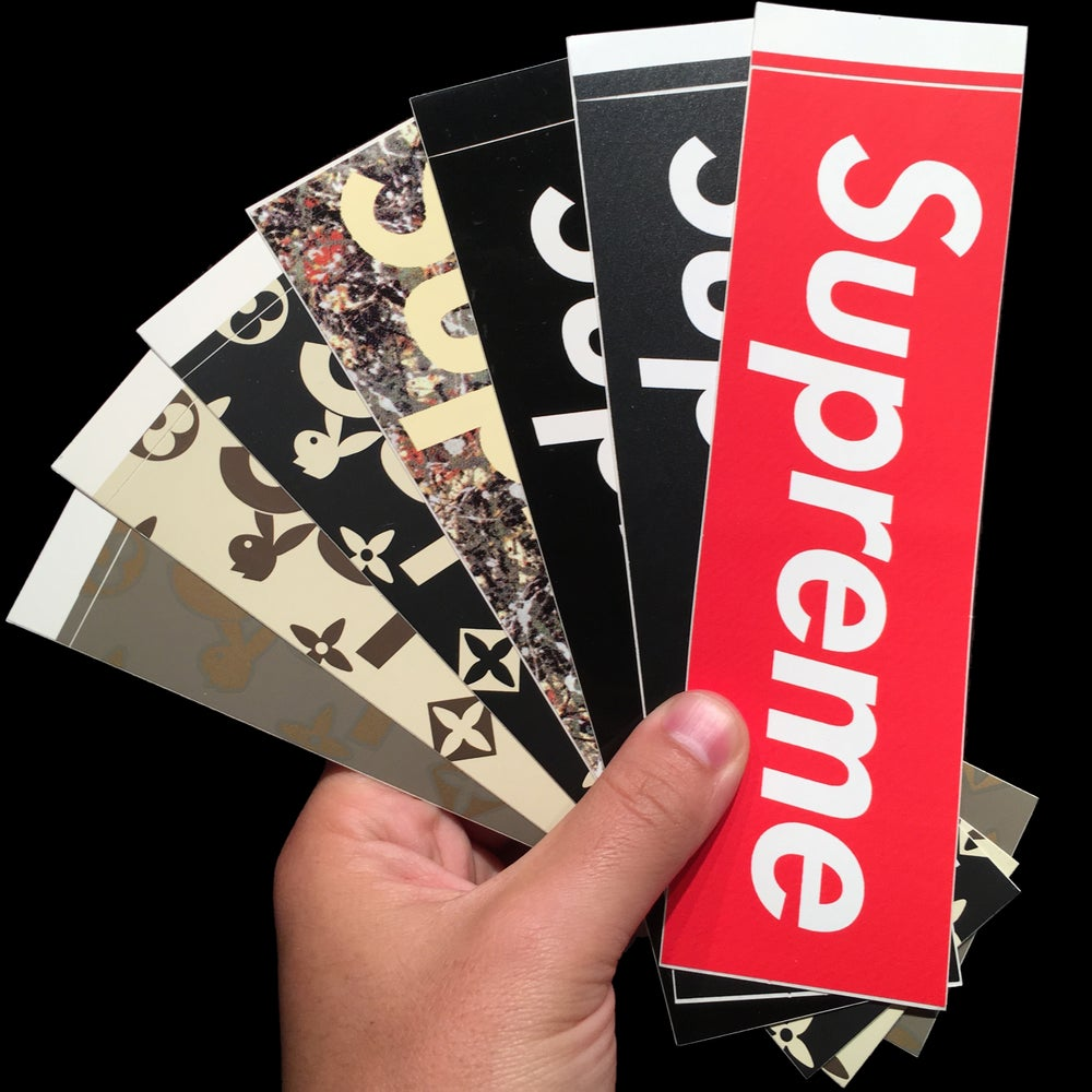Image of 0000 Stickers (Carbon Fiber/Pollock/Playboy/Black)