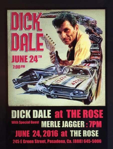Image of CLICK Poster $25 Tix 4 Merle Jagger and Dick Dale Fri June 24 7PM @ The Rose Pasadena CA