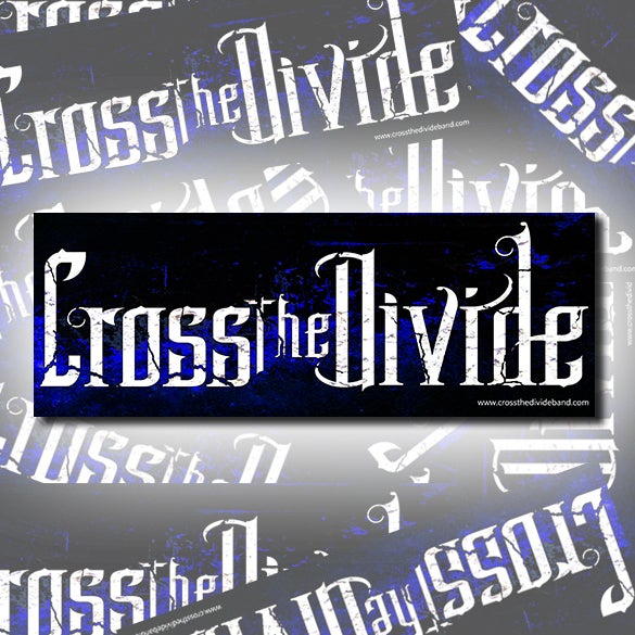 Image of Cross the Divide Logo Bumper Sticker
