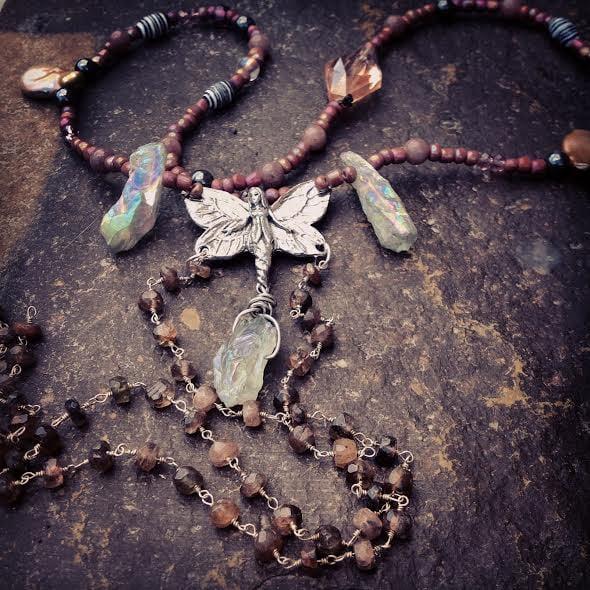 Image of Playful Staurolite Fairy Necklace