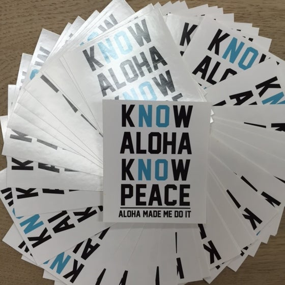 Image of KNOW ALOHA 3 INCH STICKER
