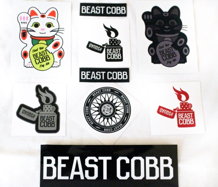 "Image of BEAST COBB ""LOUD PACK""  sticker pack"
