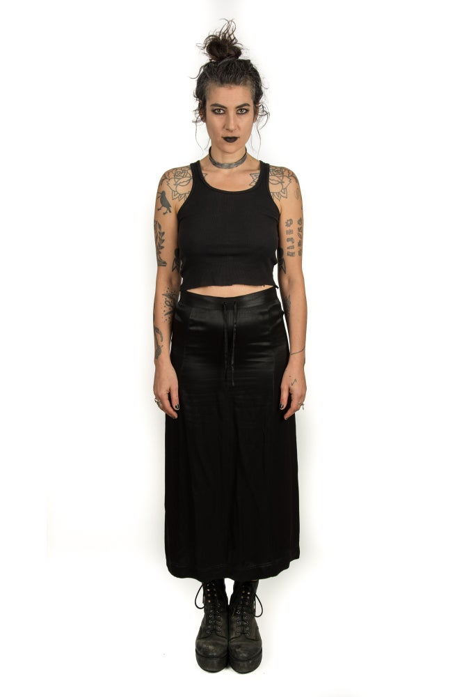 Image of ESPRIT Silk Drawstring Skirt