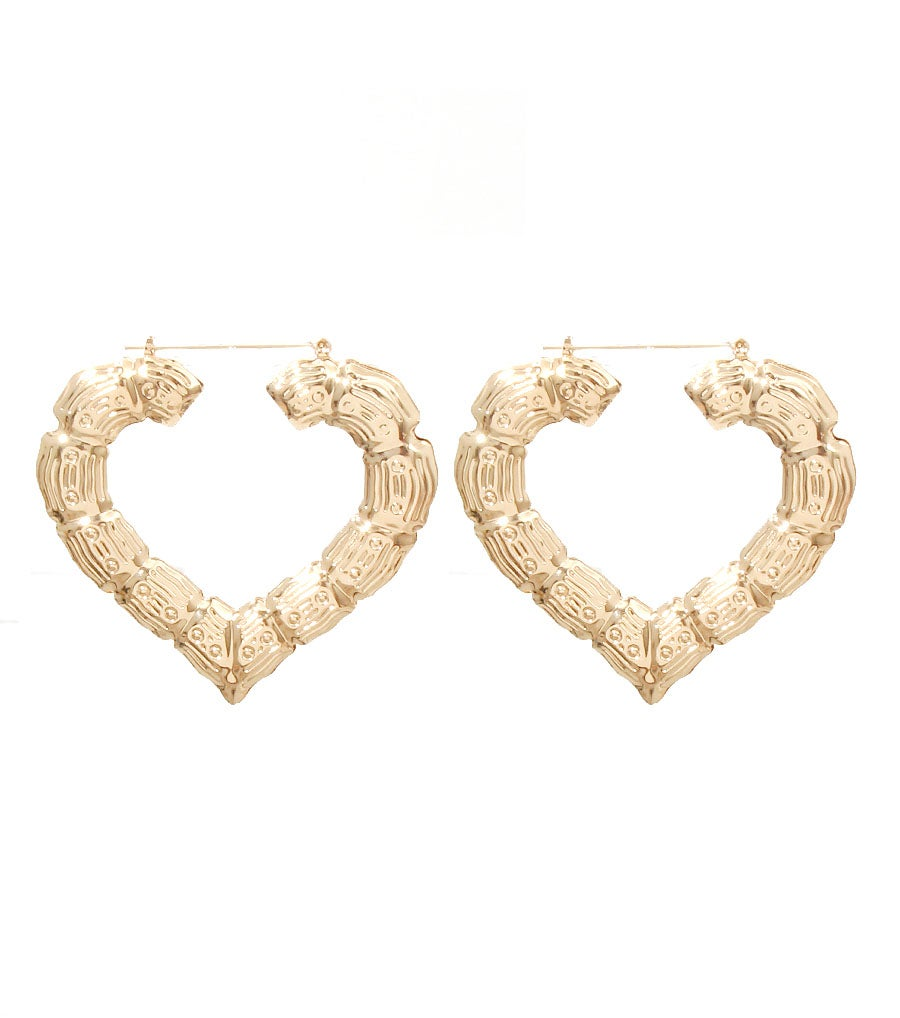 Image of Heart Hoop Earrings